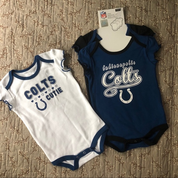 NWT 3 Baby Girls Indianapolis Colts Bodysuits 51fd8237b